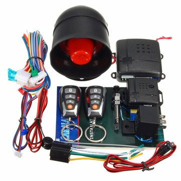 L202 LED Universal One-Way Smart Anti-Theft Remote Control Car Alarm System
