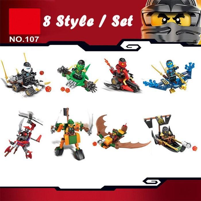 No. 107 Series 8 Style / Set Ninja Building Block Educational DIY Assembling Toy