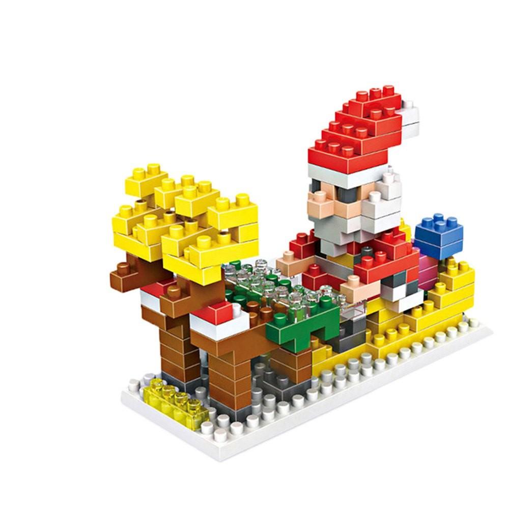 LOZ 180Pcs M - 9125 Santa Clause Building Block Educational DIY Toy