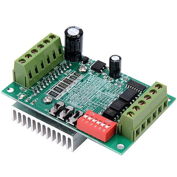 TB6560 3A Single-Axis Controller Motor Driver Board - Green
