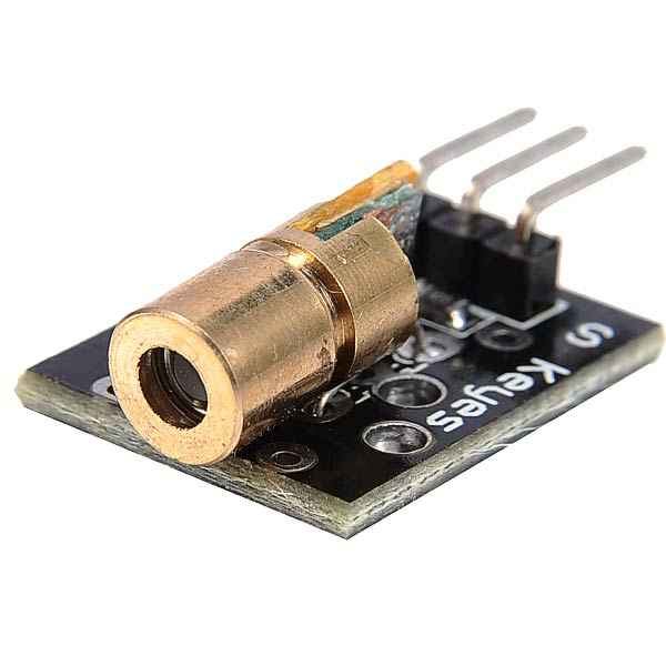 KY-008 Laser Sensor Module Compat for Arduino - Black + Glod
