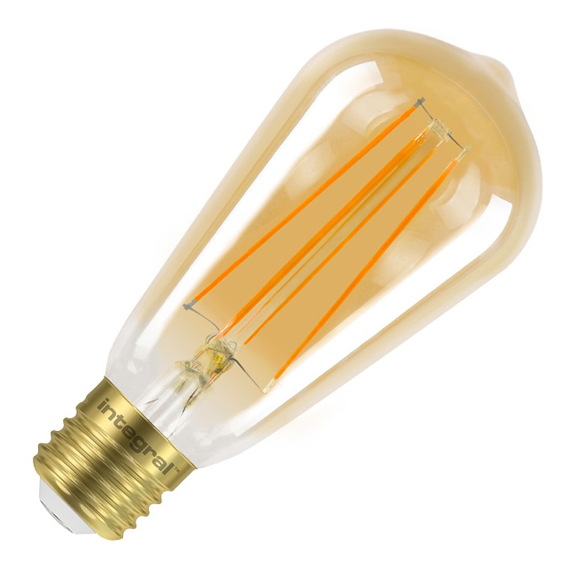 Integral ST64 LED Vintage Globe Bulb E27 5W (40W) 1800K (Ultra-Warm) Dimmable Lamp