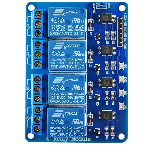 4-Channel 5V Relay Module Low Strigger for Arduino