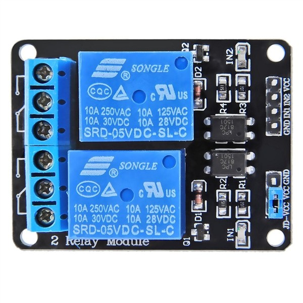 Two-way Relay with Optocoupler Module Relay Expansion Board