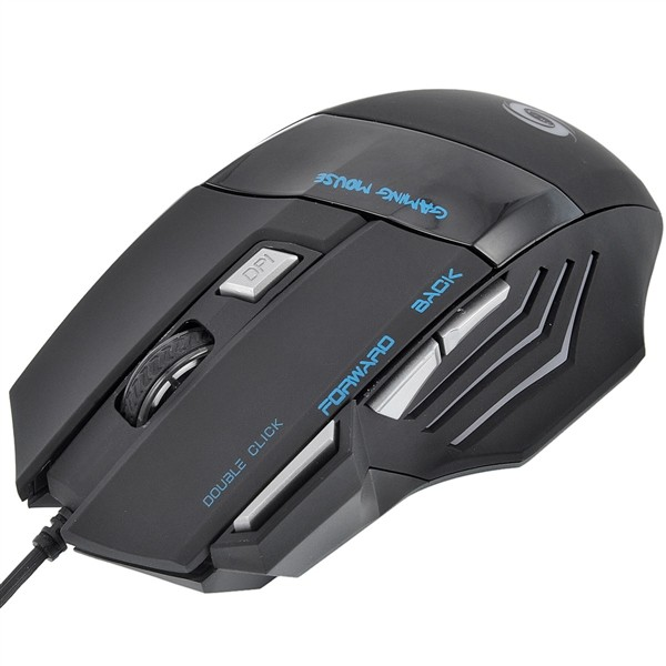 5500 DPI Adjustable 7 Buttons Optical USB Wired Gaming Game Mouse