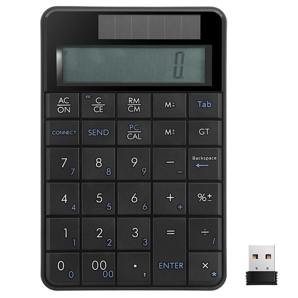 MC-55AG 2 in 1 Wireless 2.4G Ultra-thin Numeric Keyboard Calculator