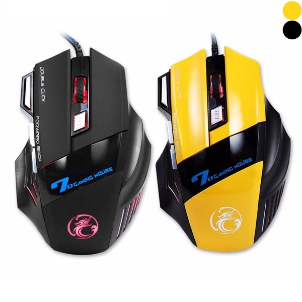 IMice X7 USB Gaming Mouse 7 Button 5500DPI LED Wired Cable Computer Mouse