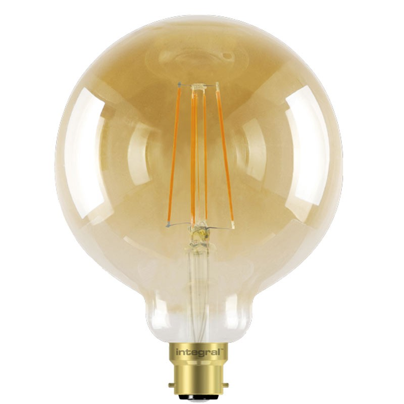 Integral G125 LED Vintage Globe Bulb B22 5W (40W) 1800K (Ultra-Warm) Dimmable Lamp