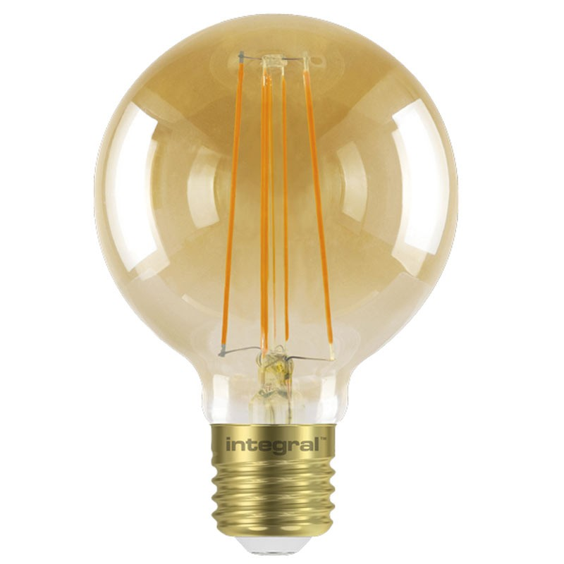Integral G80 LED Vintage Globe Bulbs E27 5W (40W) 1800K (Ultra-Warm) Dimmable Lamp