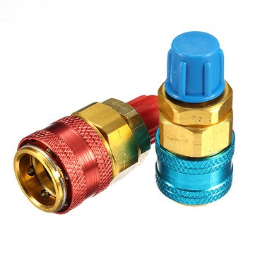 Quick Couplers Connector for Refrigerant R134a Car Automobile
