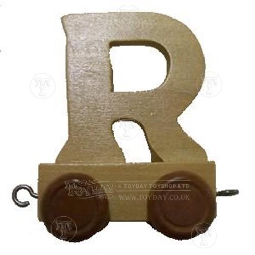 Wooden Train Letter  R
